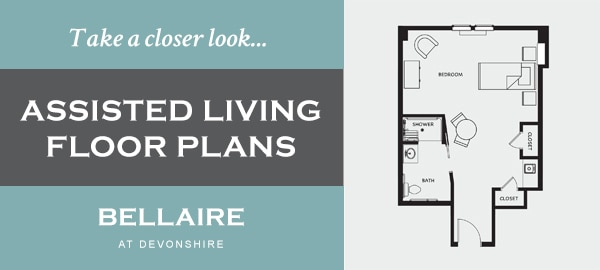 Assisted Living Floor Plans at Bellaire at Devonshire